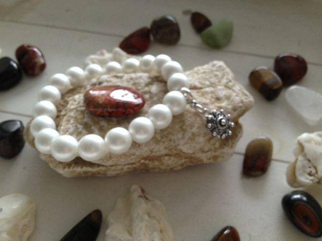 Glasparel armband met Zeeuwse knop